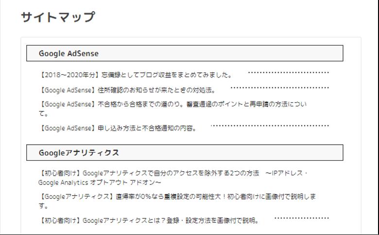 PS Auto Sitemapでサイトマップが表示されない時の対処法